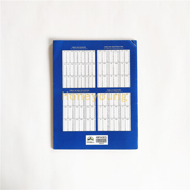 17x22cm Senegal School 48 Pages Exercise Book with Multiplication Table FEB-11