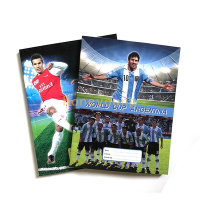 Wholesale Football Player Ivory Board School Student Glue Binding Notebook GBN-18