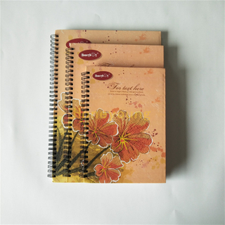 Custom Design Printed with Custom LOGO Wood Free Inner Paper Hard Cover Spiral Notebook SN-20