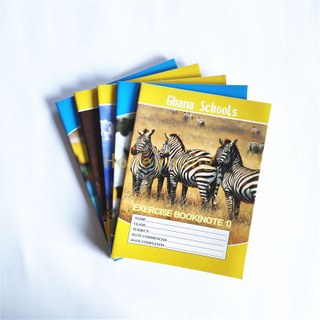 18x24cm Single Line Ruled 40 Sheets/80 Pages Ghana Exercise Book for Schools SCEB-9