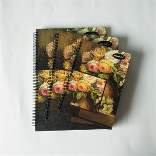 Custom Size Color Printing Hard Cover Double Spiral Notebook with LOGO SN-16