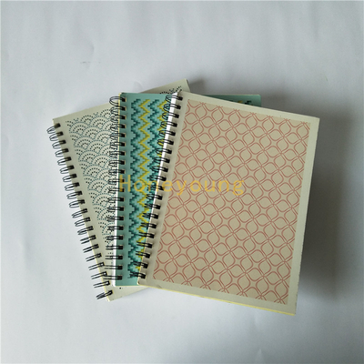 300pages Simple Designs Offset Paper Metal Wire Double Spiral Notebook SN-8