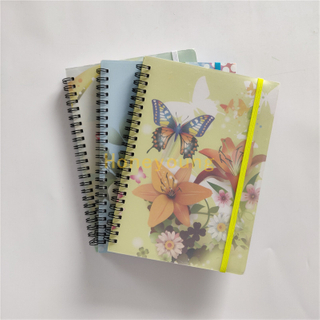 Landscape Designs School Spiral Notebook Manufacturer in China PP Cover with Color Printing Artpaper SN-24