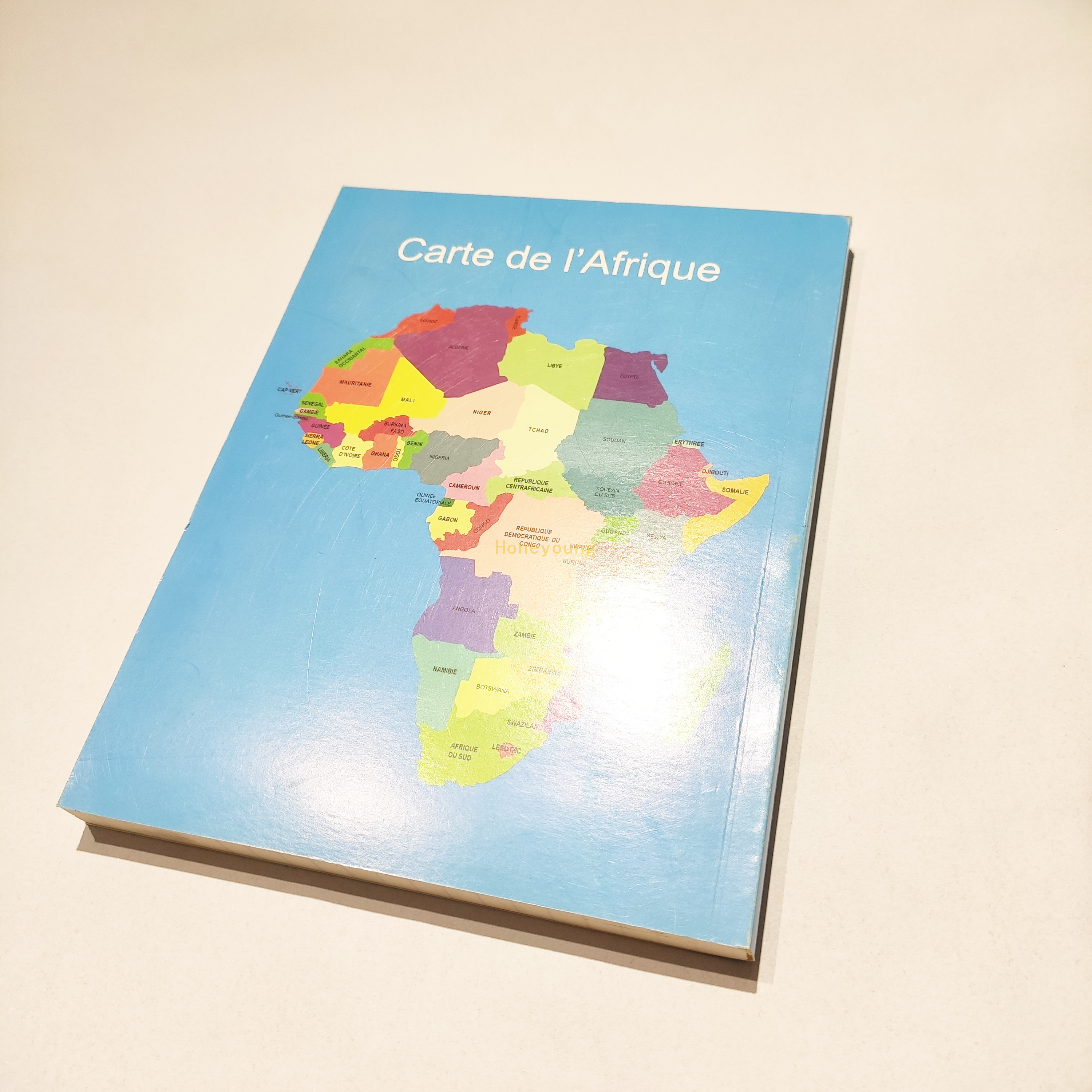 Africa Map Tender Order Artpaper Cover French Line Glue Binding Notebook GBN-05