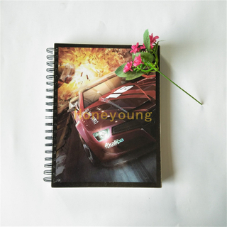 Popular Car Design School Supplies Soft Cover Spiral Notebooks SN-37
