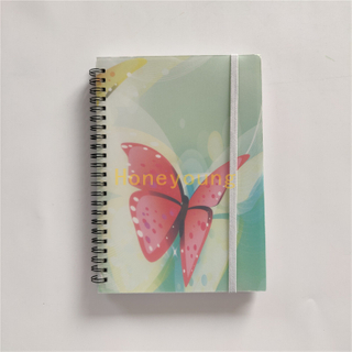 Best Quality Beautiful Design PP Cover Spiral Notebook with Elastic Band SN-22